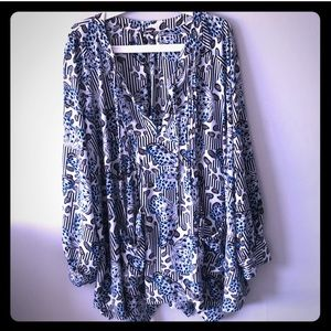 Super cute and comfortable plus size blouse